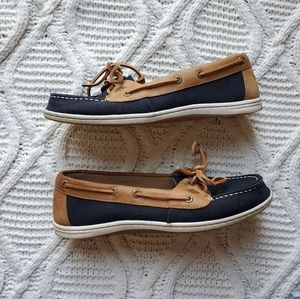 Sperry Topsider Navy and Tan Women's Boat Shoe